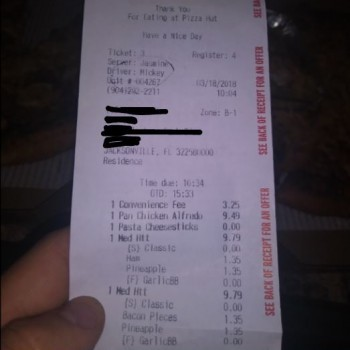 Pizza Hut, Philips Highway, Jacksonville, FL, USA photo-102724 Got Food Poisoning? Report it now