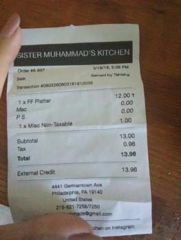 Sister Muhammad's Kitchen, Germantown Avenue, Philadelphia, PA, USA photo-102962 Got Food Poisoning? Report it now