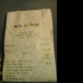 Wingstop, Alessandro Boulevard, Moreno Valley, CA, USA photo-103094 Got Food Poisoning? Report it now