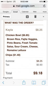 Chipotle Mexican Grill, South Pleasant Valley Road, Winchester, VA, USA photo-103784 Got Food Poisoning? Report it now