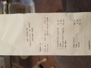 Smokey Bones Bar & Fire Grill, Skibo Road, Fayetteville, NC, USA photo-108734 Got Food Poisoning? Report it now