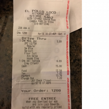 El Pollo Loco, Topanga Canyon Boulevard, Canoga Park, CA, USA photo-110011 Got Food Poisoning? Report it now