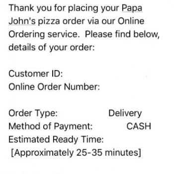 Papa John's Pizza, Preston Highway, Louisville, KY, USA photo-113371 Got Food Poisoning? Report it now