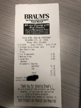 Braum's Ice Cream & Burger Restaurant, Northwest Expressway, Oklahoma City, OK, USA photo-125777 Got Food Poisoning? Report it now