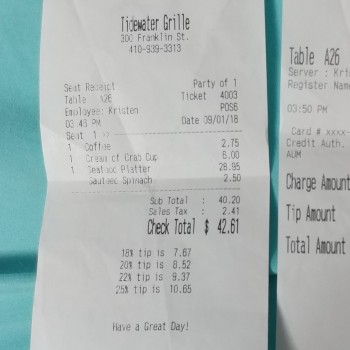 Tidewater Grille, 300 Franklin St, Havre de Grace, MD 21078, USA photo-133759 Got Food Poisoning? Report it now