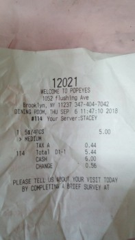 Popeyes Louisiana Kitchen, 1052, Flushing Ave, Brooklyn, NY 11237, USA photo-135099 Got Food Poisoning? Report it now