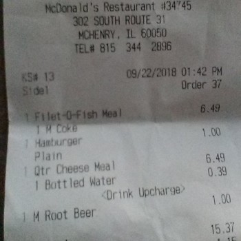 McDonald's, South Route 31, McHenry, IL 60050, USA photo-137155 Got Food Poisoning? Report it now