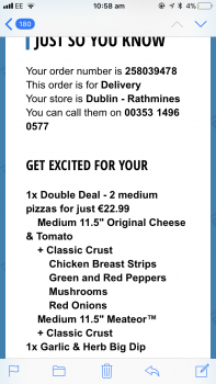 Domino's, Rathmines Road Lower, Rathmines, Dublin, Ireland photo-140937 Got Food Poisoning? Report it now