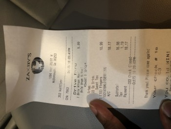 Zaxby's Chicken Fingers & Buffalo Wings, McDonough, GA, USA photo-141111 Got Food Poisoning? Report it now