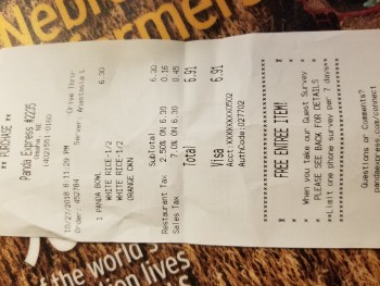 Panda Express, North 72nd Street, Omaha, NE, USA photo-143414 Got Food Poisoning? Report it now