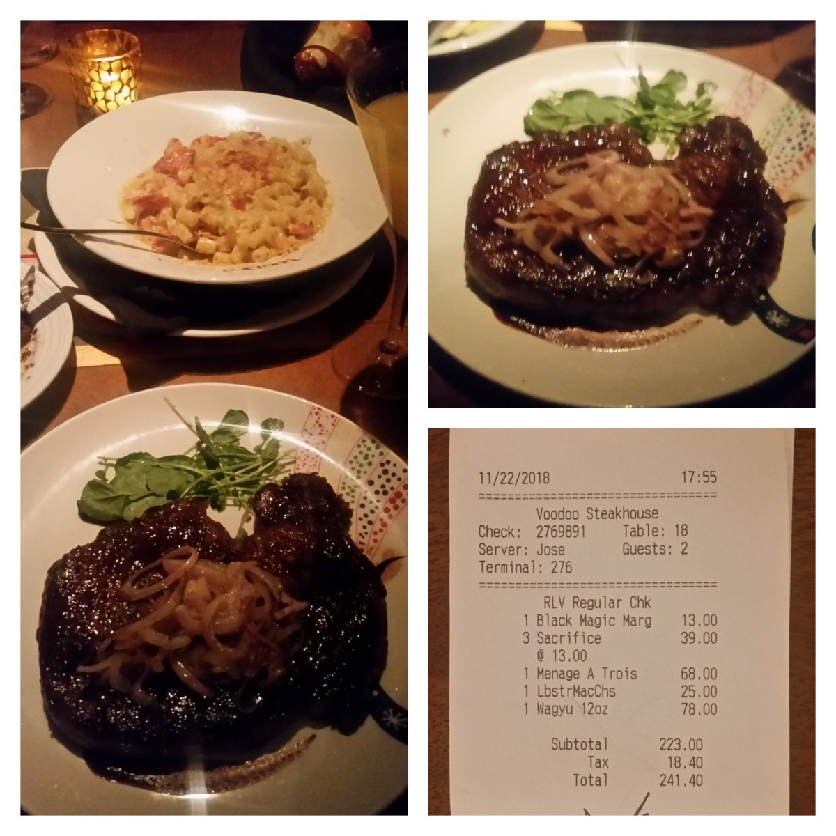 Voodoo Steakhouse, 3700 W Flamingo Road, Las Vegas, 89103