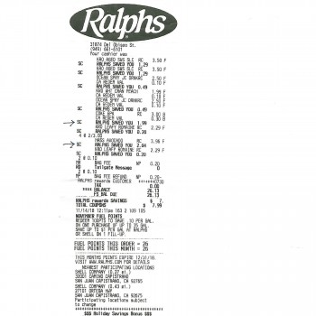 Ralphs, Del Obispo St, San Juan Capistrano, CA, USA photo-148750 Got Food Poisoning? Report it now