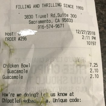 Chipotle Mexican Grill, Truxel Road, Sacramento, California, USA photo-155401 Got Food Poisoning? Report it now