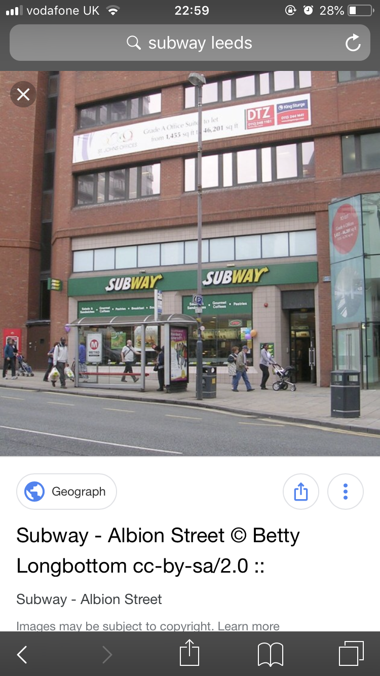 Subway, Albion Street, Leeds, UK photo-156236 Got Food Poisoning? Report it now