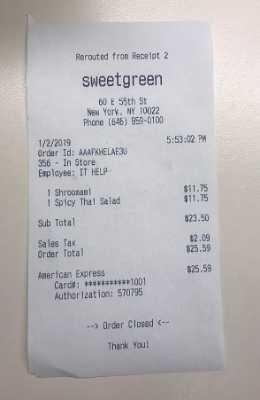 sweetgreen, East 55th Street, New York, NY, USA photo-156646 Got Food Poisoning? Report it now