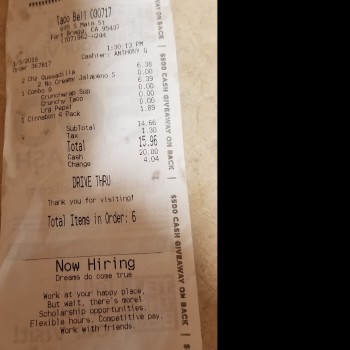 Taco Bell, South Main Street, Fort Bragg, CA, USA photo-156748 Got Food Poisoning? Report it now