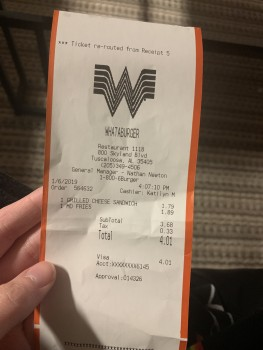 Whataburger, Skyland Boulevard, Tuscaloosa, AL, USA photo-157358 Got Food Poisoning? Report it now
