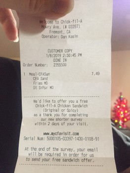 Chick-fil-A Mowry Ave, Mowry Avenue, Fremont, CA, USA photo-157903 Got Food Poisoning? Report it now