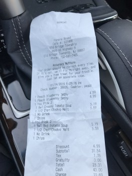 Panera Bread, U.S. 9, Old Bridge, NJ, USA photo-158987 Got Food Poisoning? Report it now