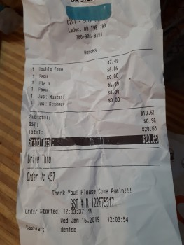 A&W Canada, 50 Street, Leduc, AB, Canada photo-159208 Got Food Poisoning? Report it now