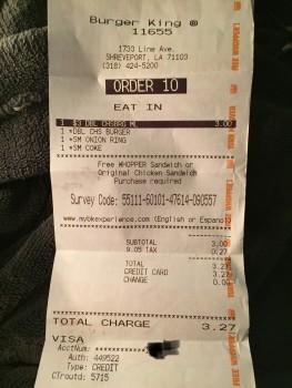 Burger King, Line Avenue, Shreveport, LA, USA photo-159551 Got Food Poisoning? Report it now