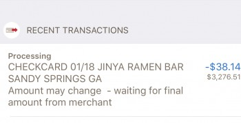 JINYA Ramen Bar, Roswell Road, Atlanta, GA, USA photo-159861 Got Food Poisoning? Report it now