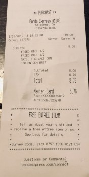 Panda Express, Lincoln Avenue, Altadena, CA, USA photo-161176 Got Food Poisoning? Report it now