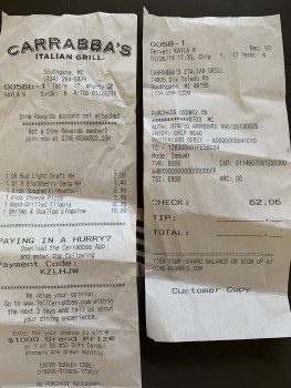 Carrabba's Italian Grill, Dix Toledo Road, Southgate, MI, USA photo-161886 Got Food Poisoning? Report it now