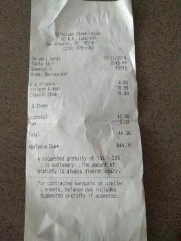 Saltgrass Steak House, Northeast Interstate 410 Loop, San Antonio, TX, USA photo-162168 Got Food Poisoning? Report it now