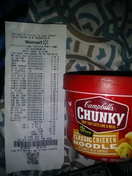 Cambells Chunky Classic Chicken Noodle from  Walmart,  222 Wilkinson Ln, White House, TN 37188, USA photo-168455 Got Food Poisoning? Report it now