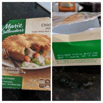 Marie Calendars pot pie (chicken) photo-169725 Got Food Poisoning? Report it now