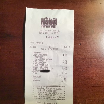 The Habit Burger Grill, Carmel Mountain Road, San Diego, CA, USA photo-169890 Got Food Poisoning? Report it now
