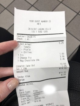 In-N-Out Burger, La Paz Road, Laguna Niguel, CA, USA photo-171795 Got Food Poisoning? Report it now