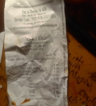 Taco Bell, 3595 Biscayne Blvd, Miami, FL 33137, USA photo-172923 Got Food Poisoning? Report it now