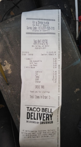 Taco Bell, 10815 N Oracle Rd, Oro Valley, AZ 85737, USA photo-174288 Got Food Poisoning? Report it now