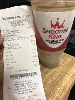 Smoothie King, Virginia Avenue North, Tifton, GA, USA photo-175941 Got Food Poisoning? Report it now