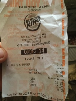 Burger King, Saint Clair Street, Chatham, Chatham-Kent, Chatham, ON, Canada photo-176772 Got Food Poisoning? Report it now