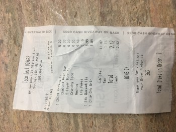 Taco Bell, Springville Station, Springville, AL, USA photo-180218 Got Food Poisoning? Report it now