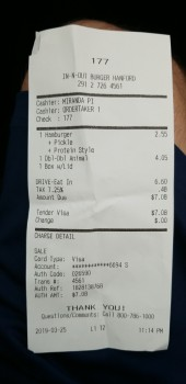 In-N-Out Burger, 12th Avenue, Hanford, CA, USA photo-183621 Got Food Poisoning? Report it now
