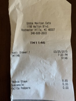 QDOBA Mexican Eats, Walton Boulevard, Rochester Hills, MI, USA photo-183718 Got Food Poisoning? Report it now
