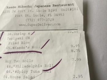 kaede hibachi japanese restaurant, 3235  SW Port St Lucie, FL, United States photo-69191 Got Food Poisoning? Report it now