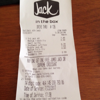 Jack in the Box, 4219 Wheaton Way, Bremerton, WA 98310, United States photo-69390 Got Food Poisoning? Report it now