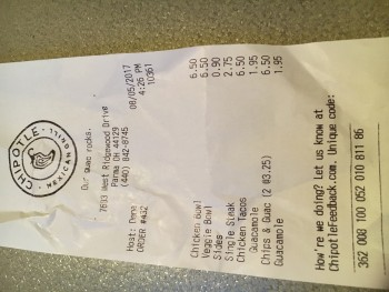 Chipotle Mexican Grill, Parma, OH, United States photo-70822 Got Food Poisoning? Report it now