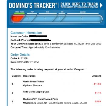 Dominos Pizza South Tamiami Trail Sarasota Fl United States
