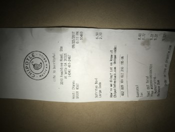 Chipotle Mexican Grill, Peachtree Street Northeast, Atlanta, GA, United States photo-75289 Got Food Poisoning? Report it now