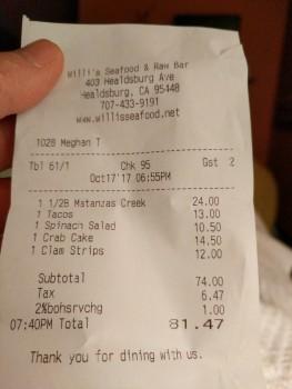 Willi's Seafood & Raw Bar, Healdsburg Avenue, Healdsburg, CA, United States photo-78193 Got Food Poisoning? Report it now