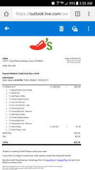 Chili's Grill & Bar, Yuma Palms Parkway, Yuma, AZ, United States photo-78491 Got Food Poisoning? Report it now