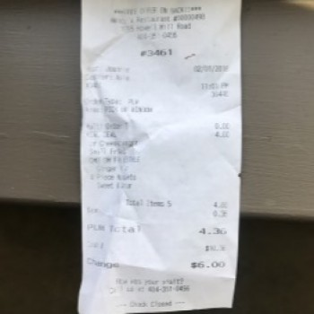 Wendy's, Howell Mill Road, Atlanta, GA, United States photo-95530 Got Food Poisoning? Report it now